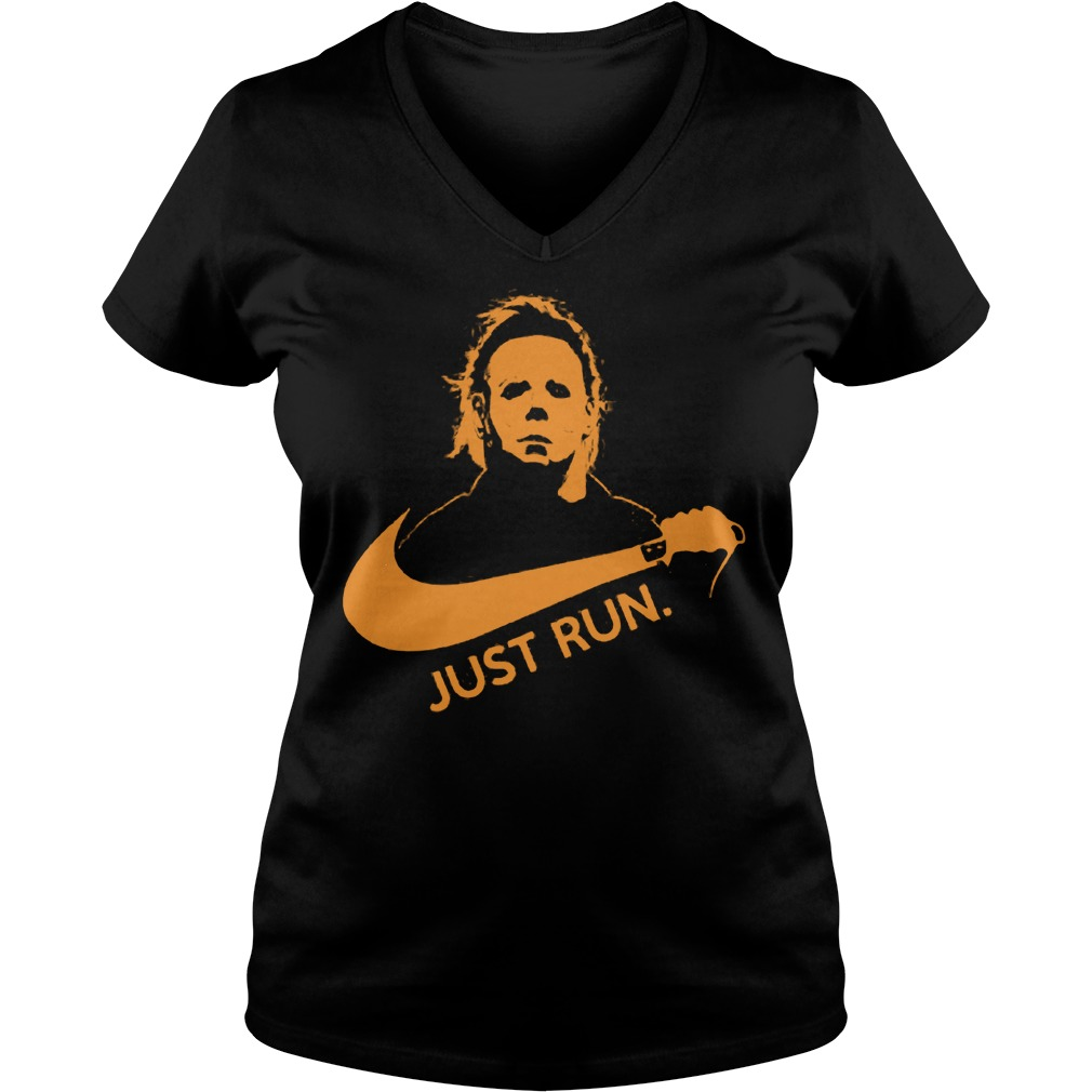 Nike Michael Myer Just run shirt Ladies V-Neck