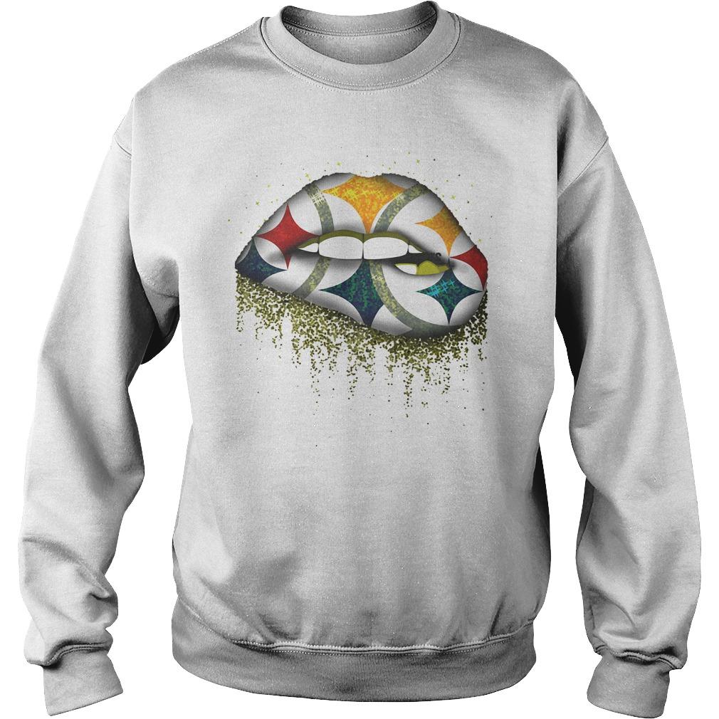 Pittsburgh Steelers Lips shirt Sweatshirt Unisex