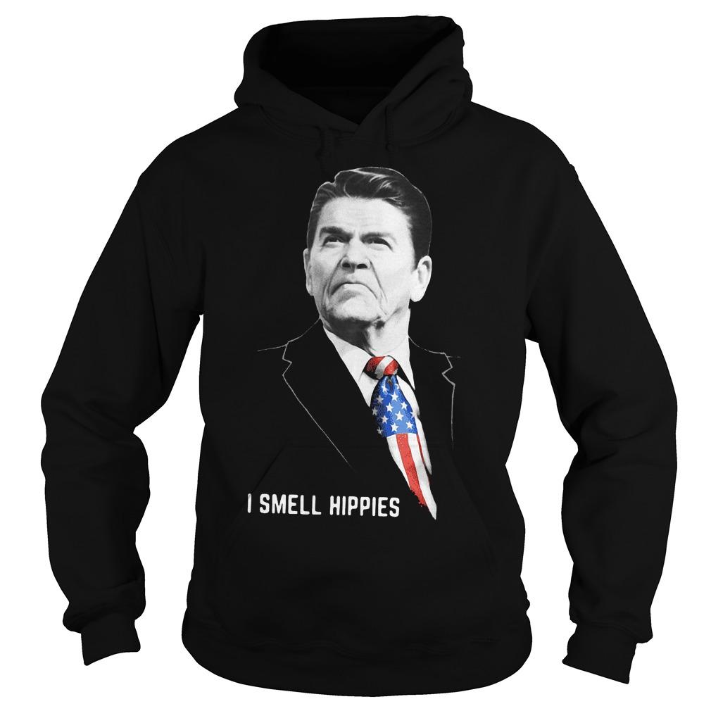 Ronald Reagan I smell hippies shirt Hoodie