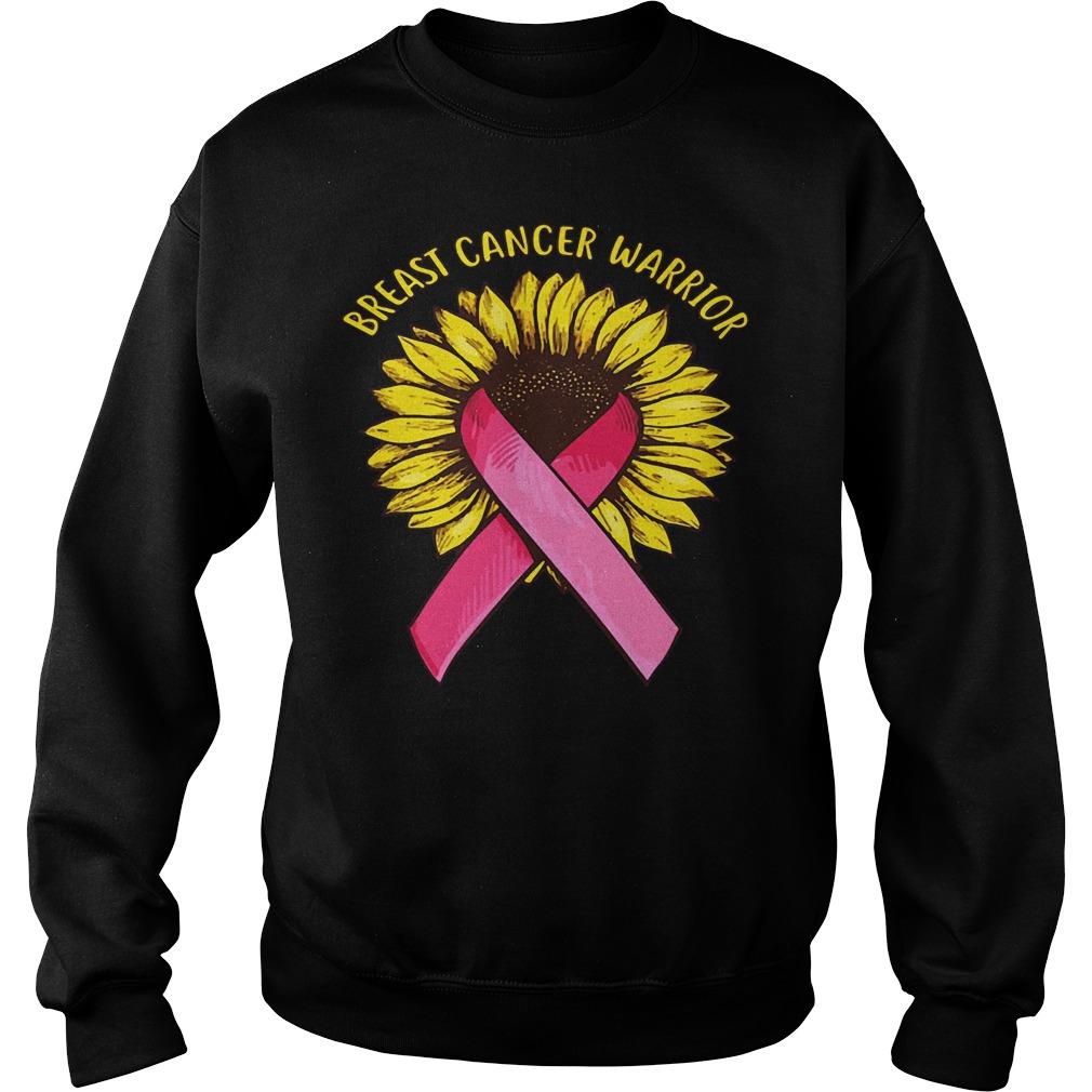 Sunflower Breast Cancer Warrior shirt Sweatshirt Unisex