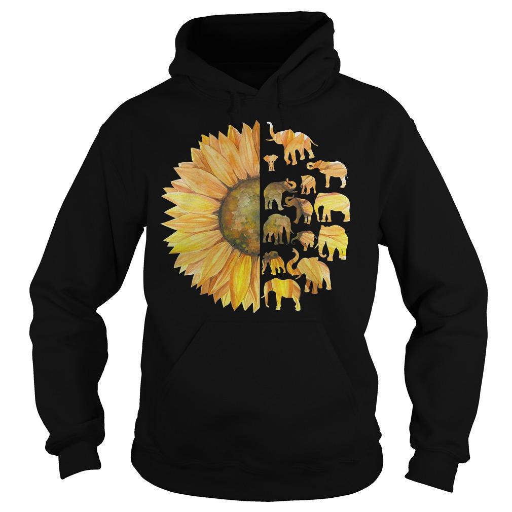 Sunflower Elephant shirt Hoodie