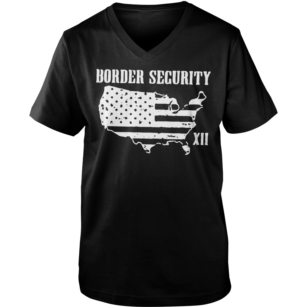 Warning Illegally Entering The United States T-Shirt Guys V-Neck