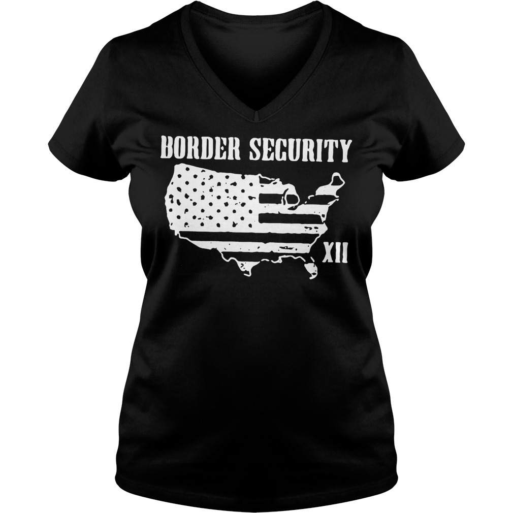 Warning Illegally Entering The United States T-Shirt Ladies V-Neck