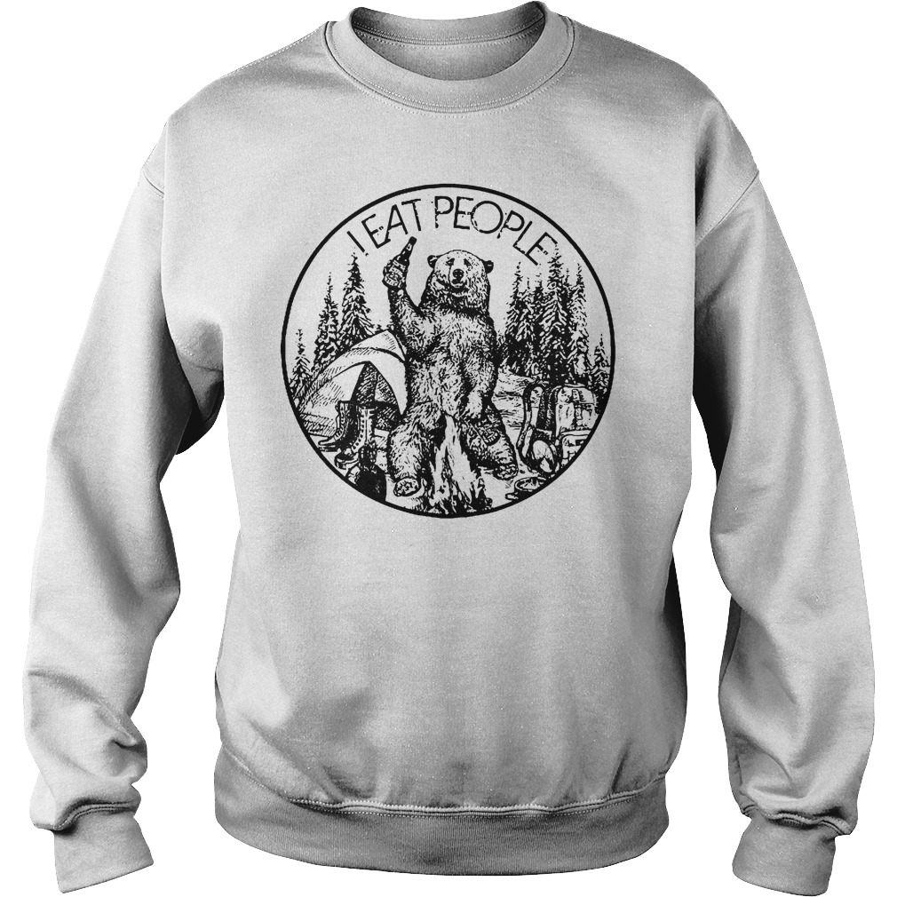 Camfire camping bear i hate people i eat people shirt Sweatshirt Unisex
