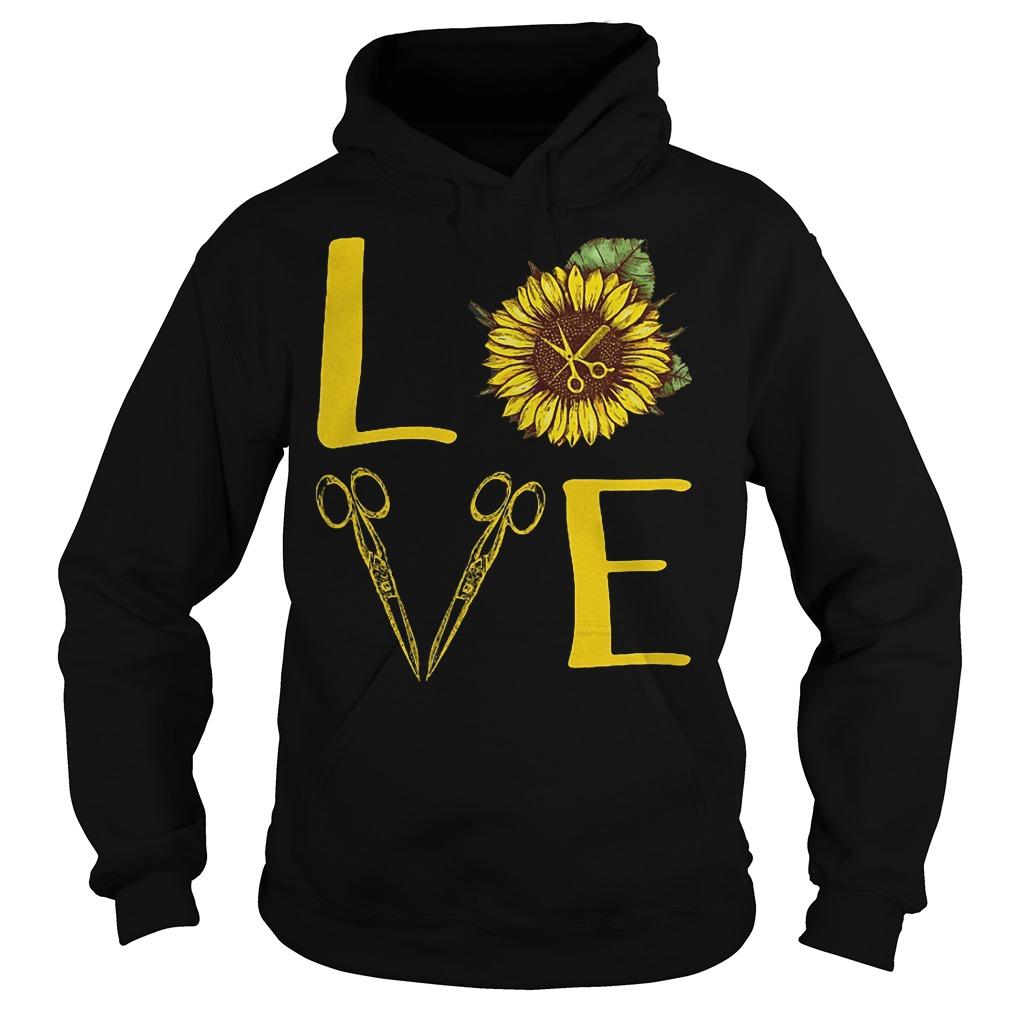 Hair Stylist Sunflower Stacked Love Barber Things Shirt Hoodie
