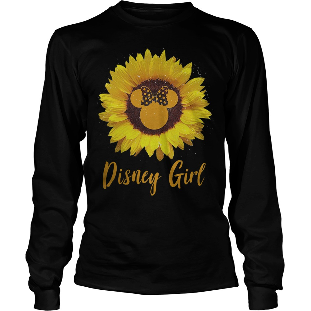 Sunflower Minnie Mouse Disney girl Shirt Longsleeve Tee Unisex