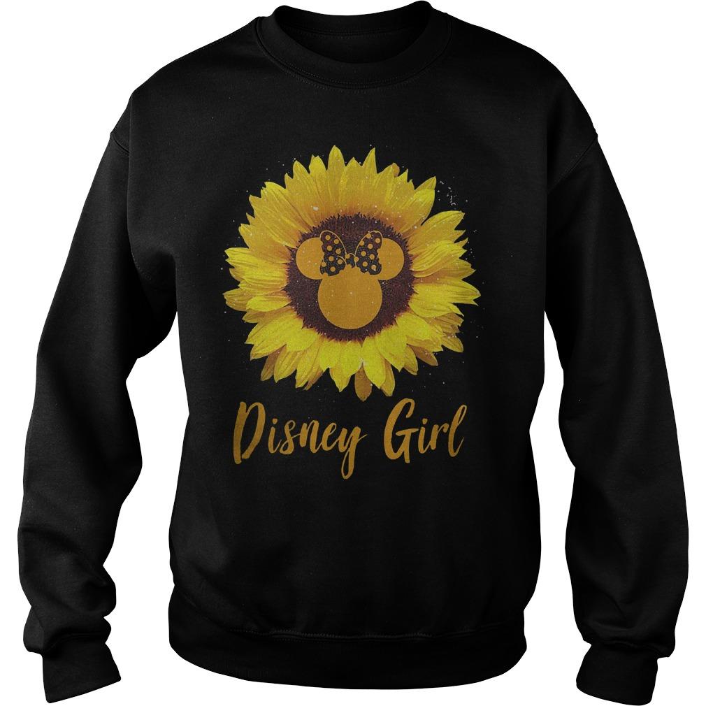 Sunflower Minnie Mouse Disney girl Shirt Sweatshirt Unisex