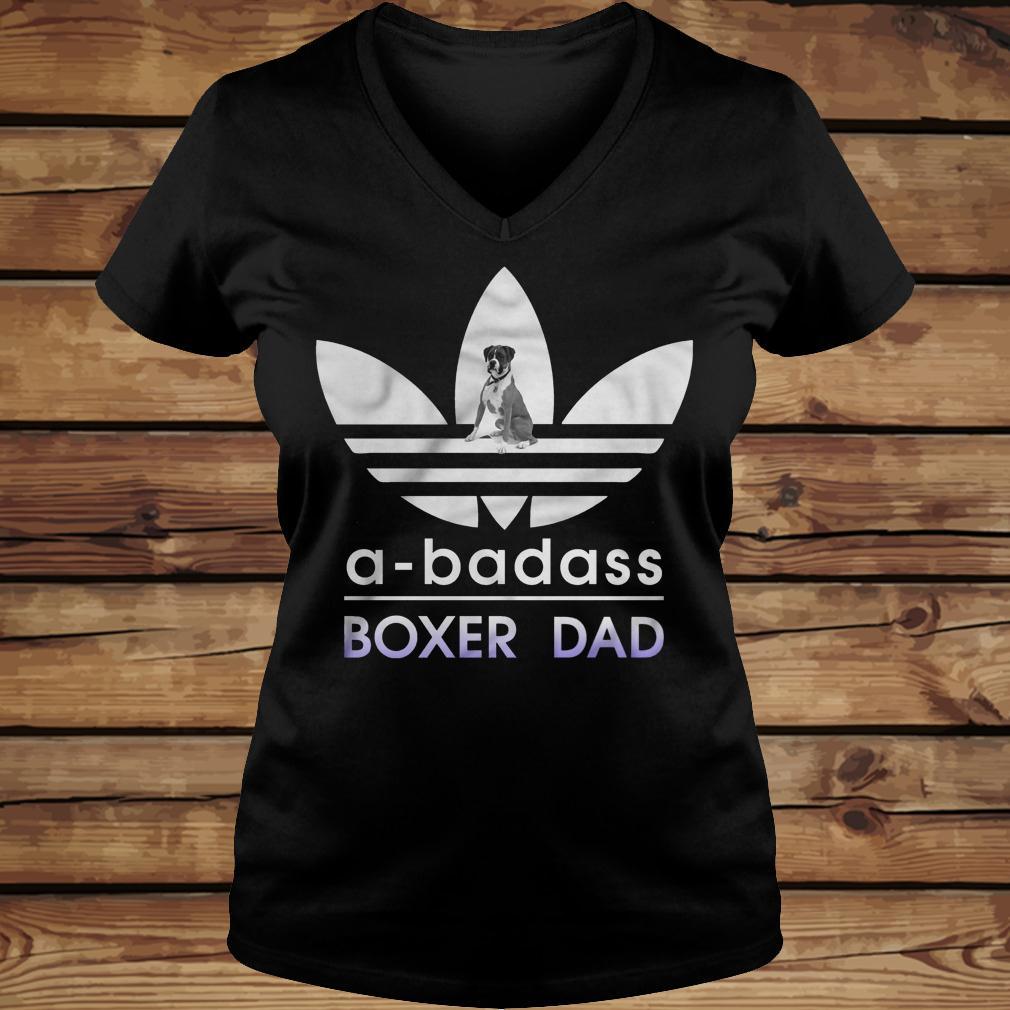 A-Badass Boxer Dad shirt Ladies V-Neck