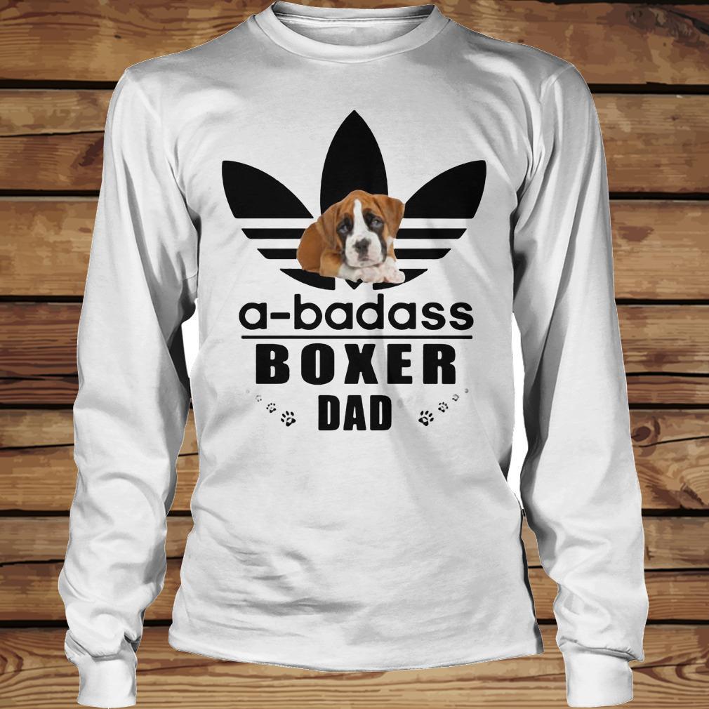 A-Badass Boxer Dad shirt Longsleeve Tee Unisex