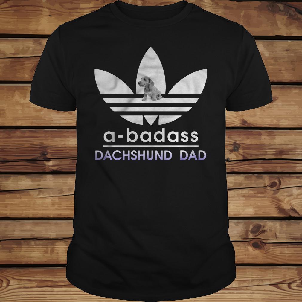 A-Badass Dachshund Dad shirt Classic Guys / Unisex Tee