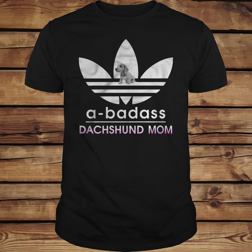 A-Badass Dachshund Mom shirt Classic Guys / Unisex Tee