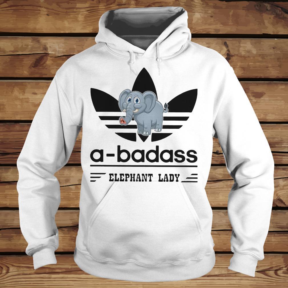 A-Badass Elephant Lady shirt Hoodie