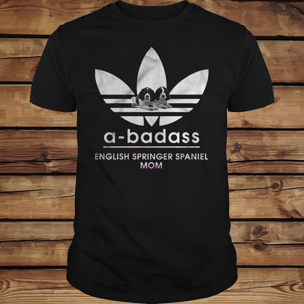 A-Badass English Springer Spaniel Mom shirt Classic Guys / Unisex Tee