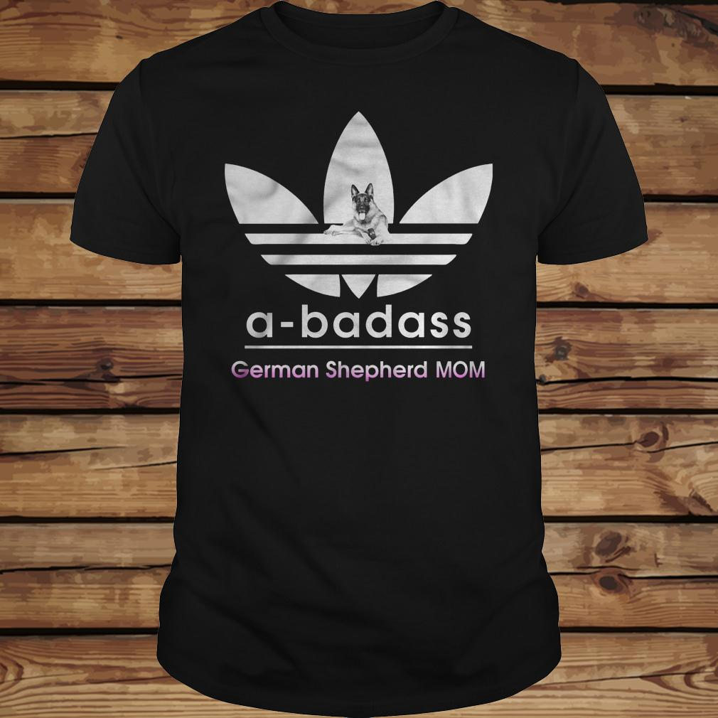 A-Badass German Shepherd Mom shirt Classic Guys / Unisex Tee