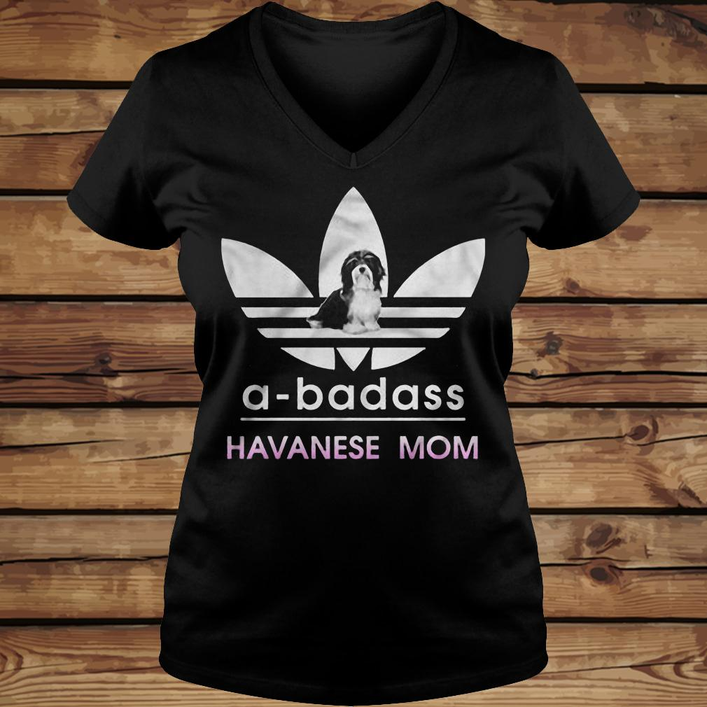 A-Badass Havanese Mom shirt Ladies V-Neck