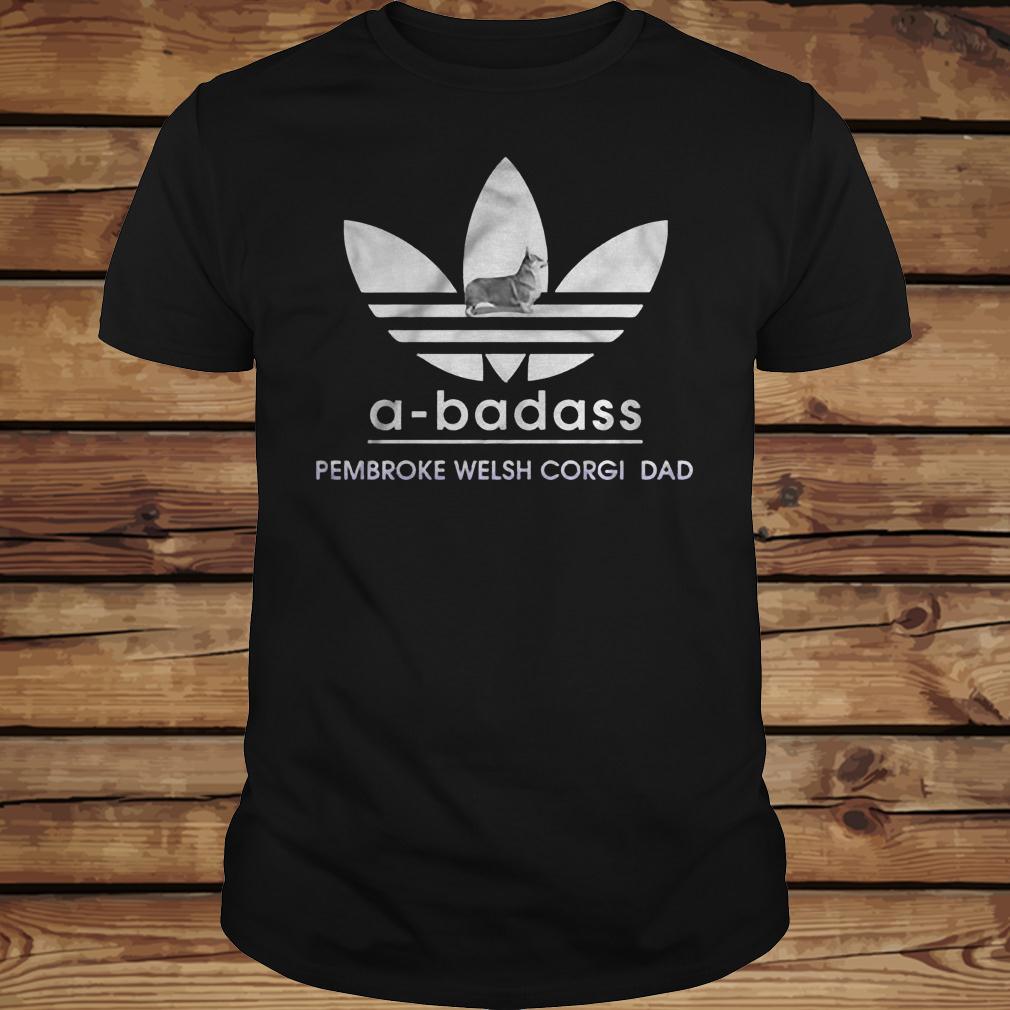 A-Badass Pembroke Welsh Corgi Dad shirt Classic Guys / Unisex Tee