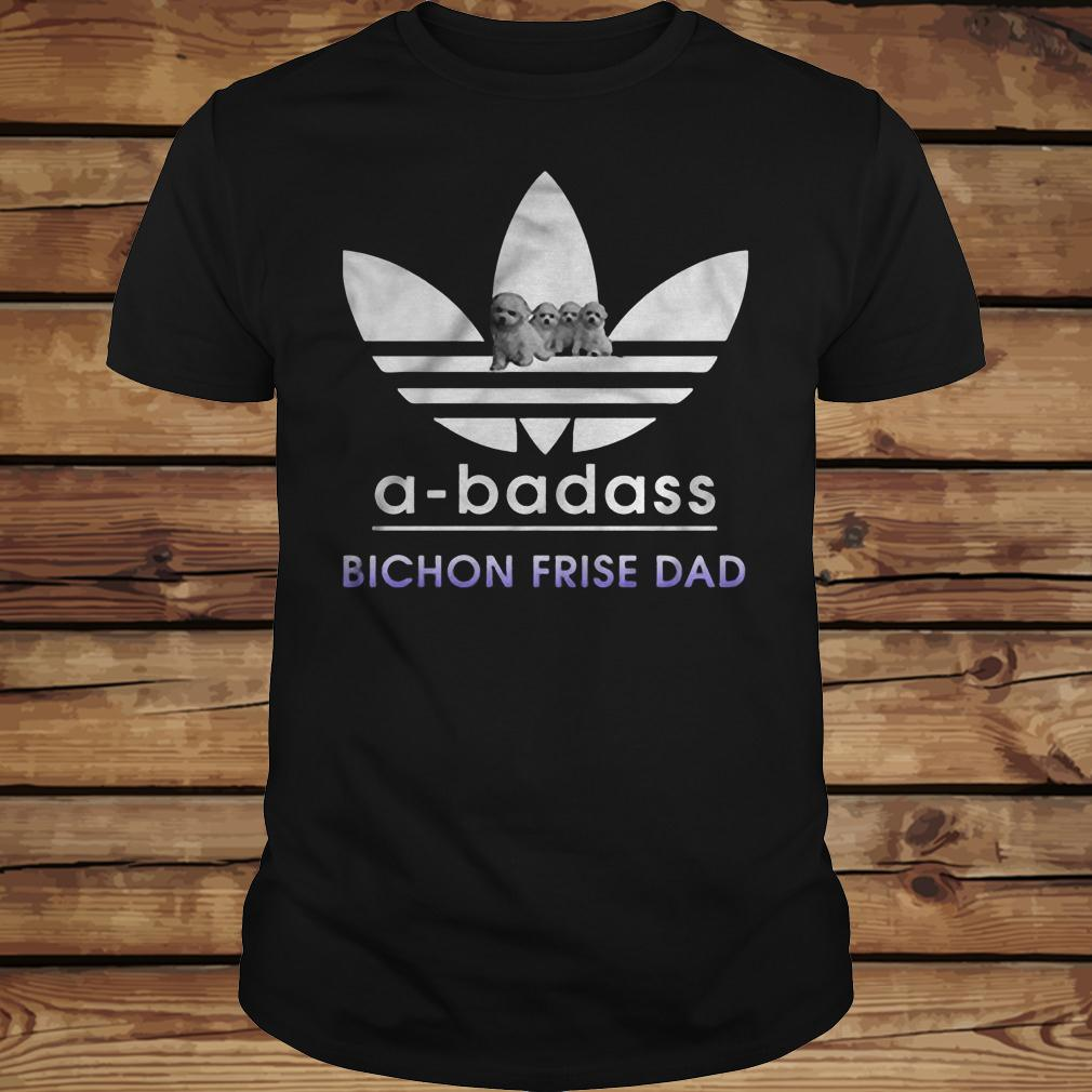 A-badass Bichon Frise Dad shirt Classic Guys / Unisex Tee