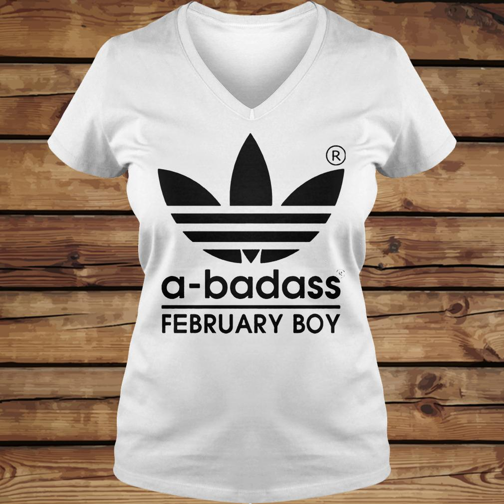 A-badass February Boy shirt Ladies V-Neck