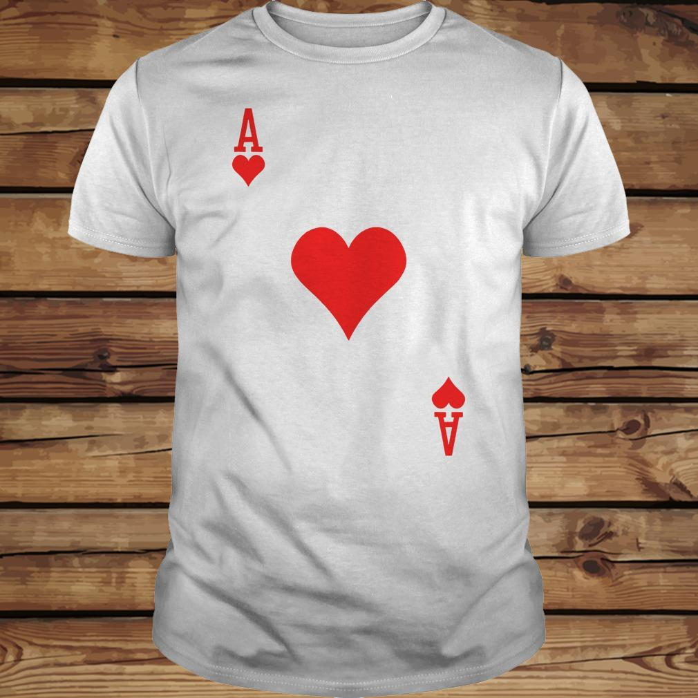 Ace of hearts playing card shirt Classic Guys / Unisex Tee