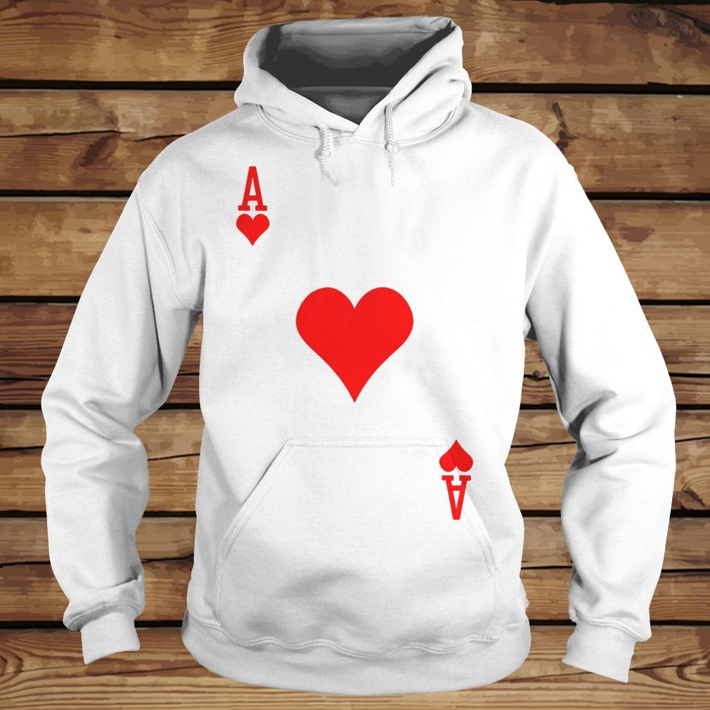Ace of hearts playing card shirt