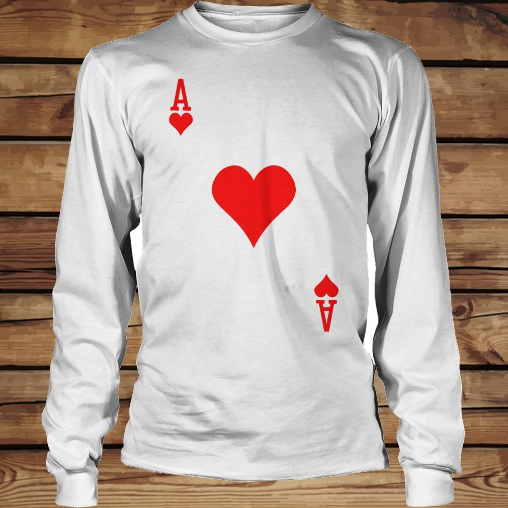 Ace of hearts playing card shirt Longsleeve Tee Unisex