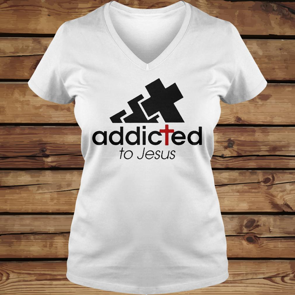 Addicted To Jesus shirt Ladies V-Neck