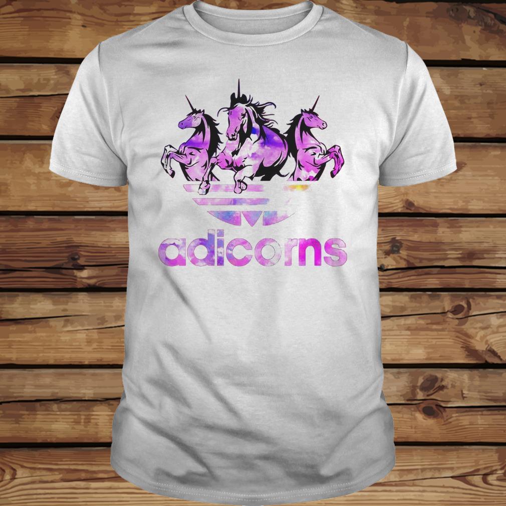 Adicorns Adidas And Unicorn shirt Classic Guys / Unisex Tee