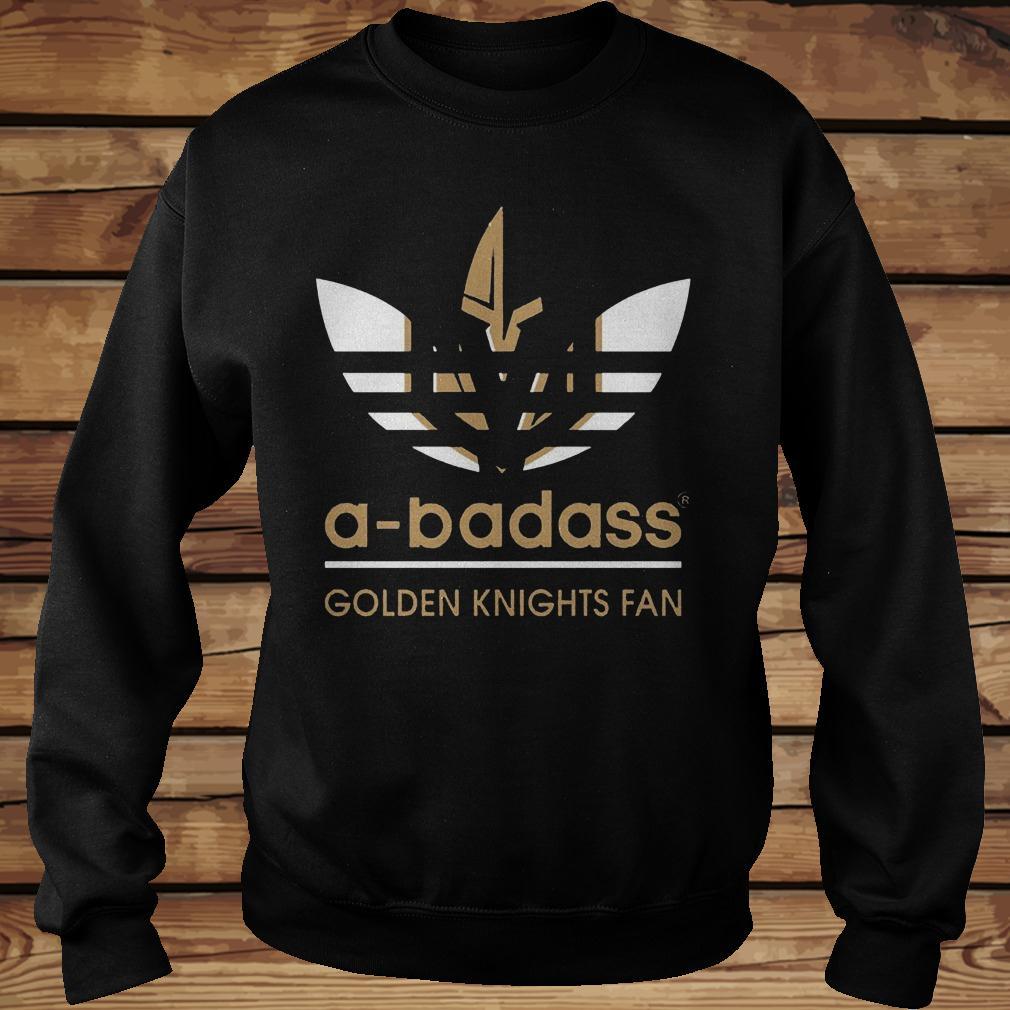 size 40 bf93a 57f87 Adidas A-badass Vegas Golden Knights Fan shirt - Premium ...
