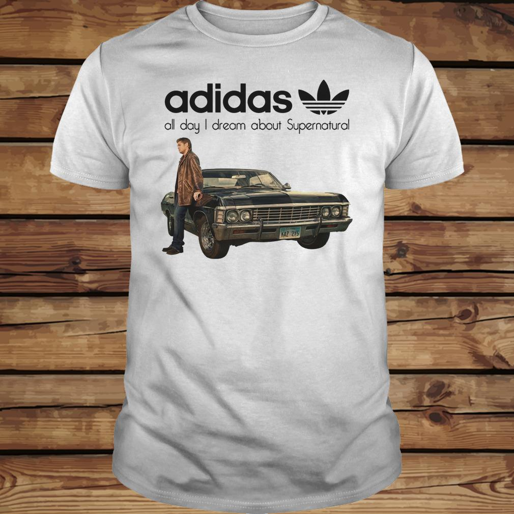 Adidas All Day I Dream About Supernatural shirt Classic Guys / Unisex Tee