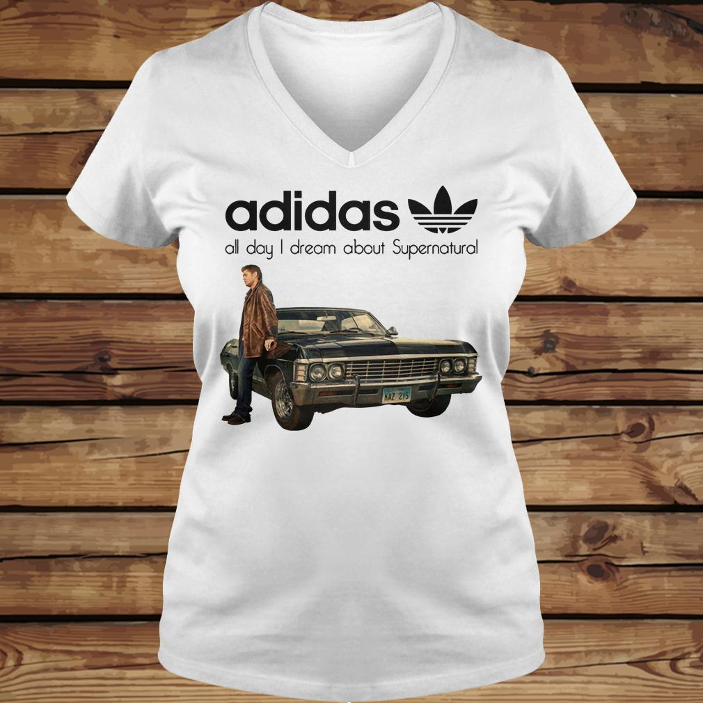 Adidas All Day I Dream About Supernatural shirt Ladies V-Neck