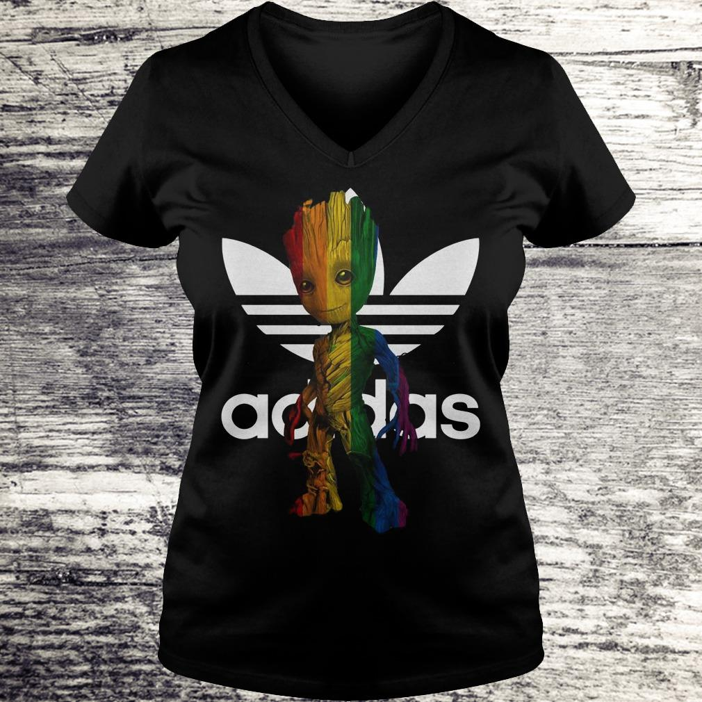 Adidas With LGBT Groot Shirt Ladies V-Neck