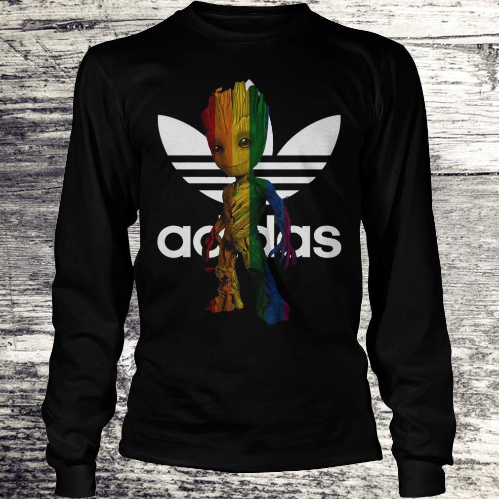 Adidas With LGBT Groot Shirt Longsleeve Tee Unisex