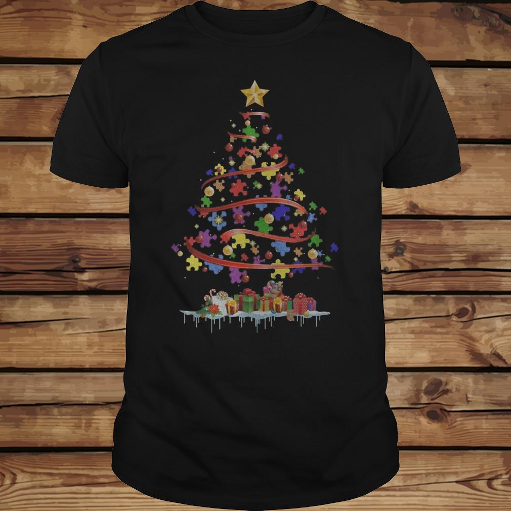 Autism Awareness Christmas Tree shirt Classic Guys / Unisex Tee