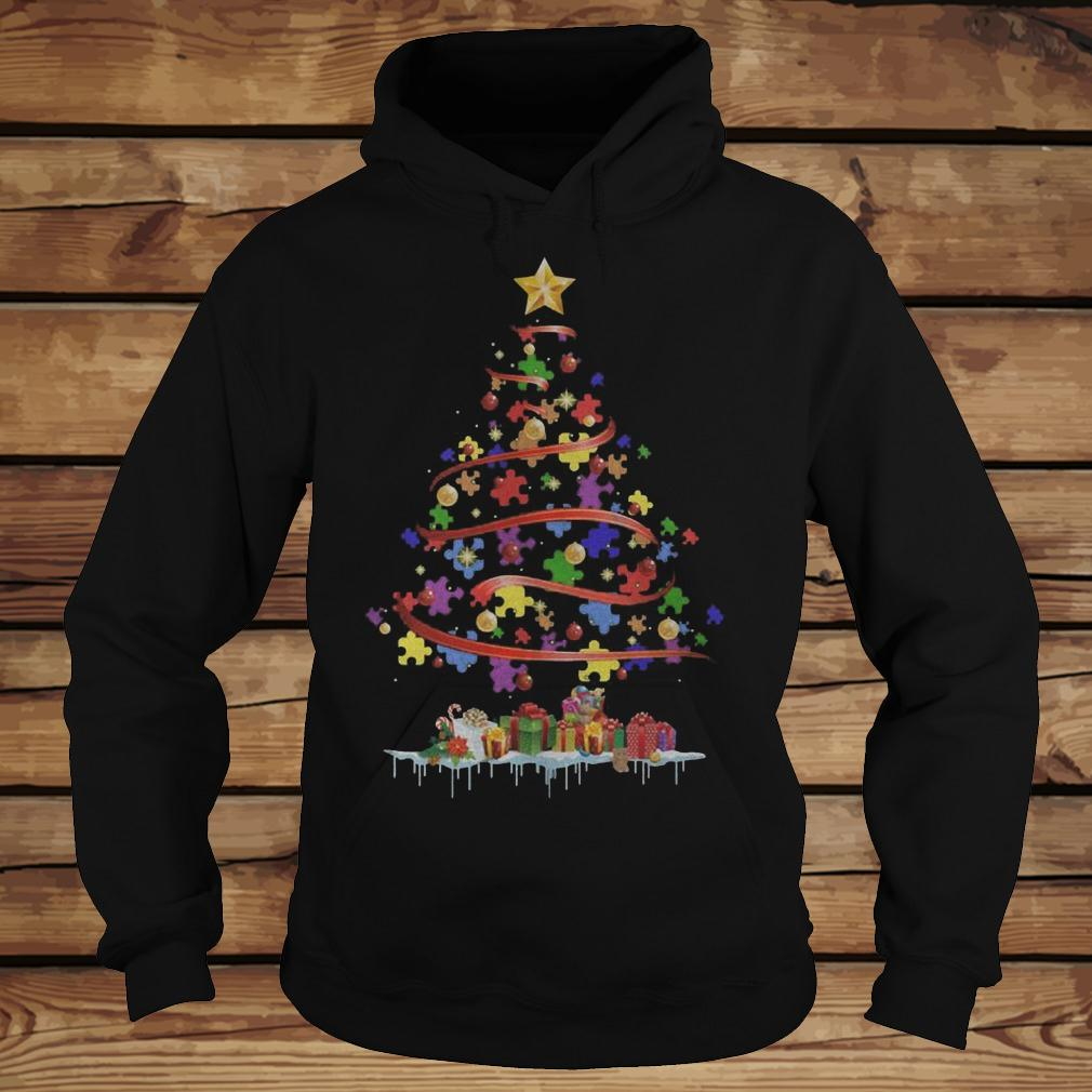 Autism Awareness Christmas Tree shirt Hoodie