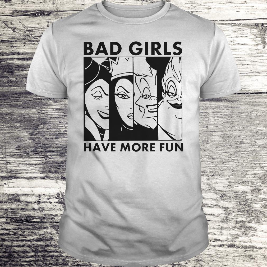 Bad Girl Have More Fun Disney Witches Shirt Classic Guys / Unisex Tee
