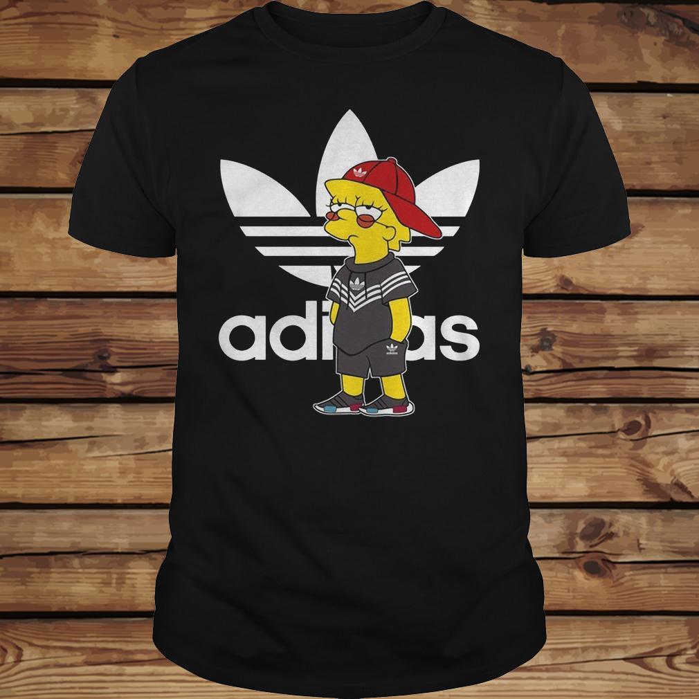 Bart Simpson And Adidas Brand shirt Classic Guys / Unisex Tee