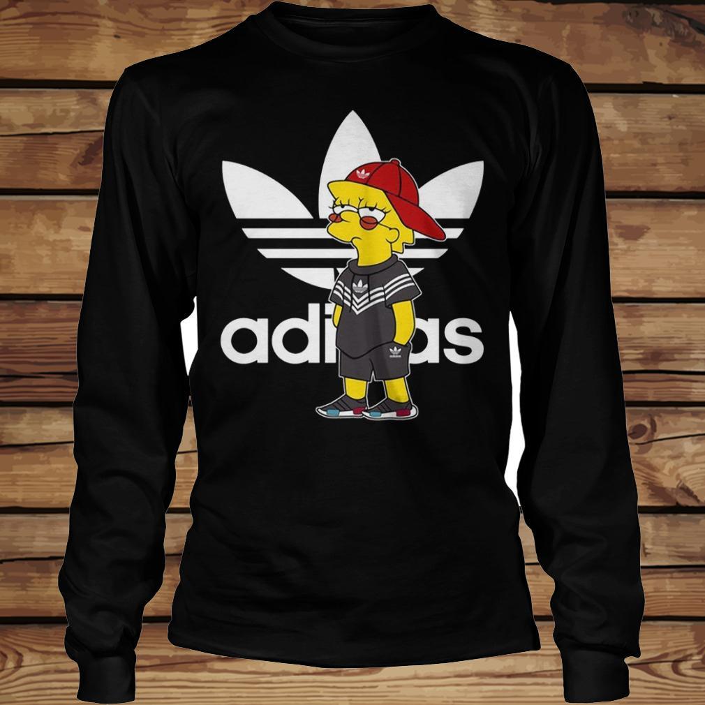 Bart Simpson And Adidas Brand shirt Longsleeve Tee Unisex