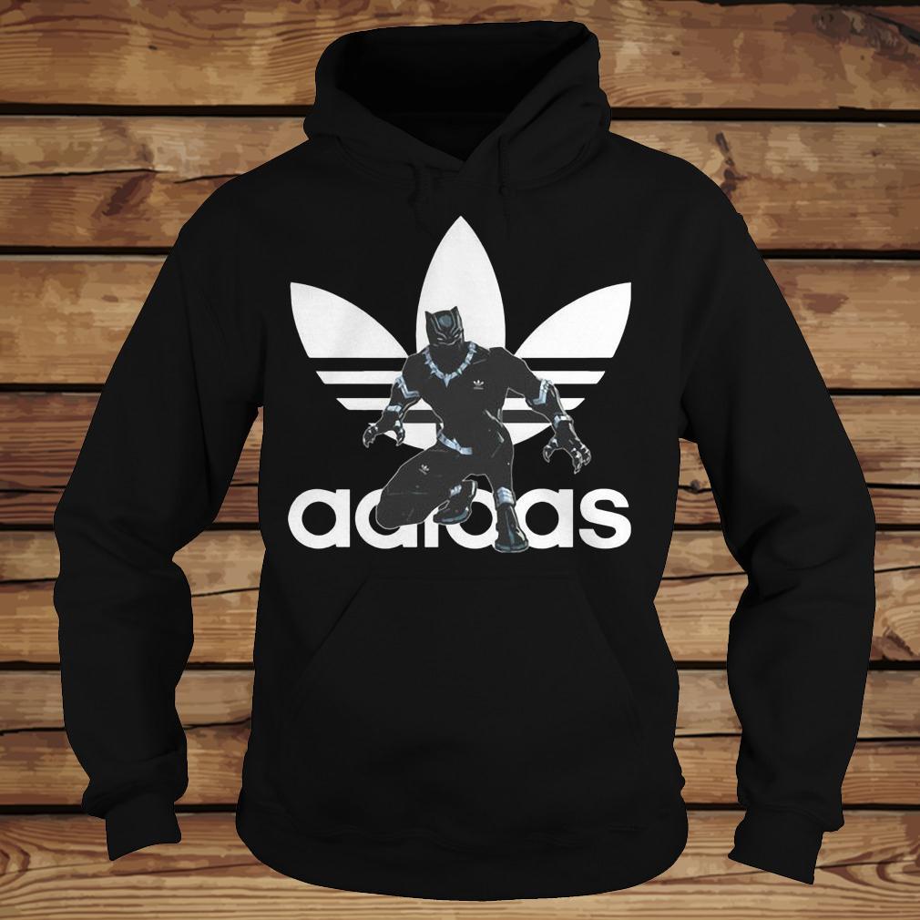 Black Panther Adidas shirt Hoodie