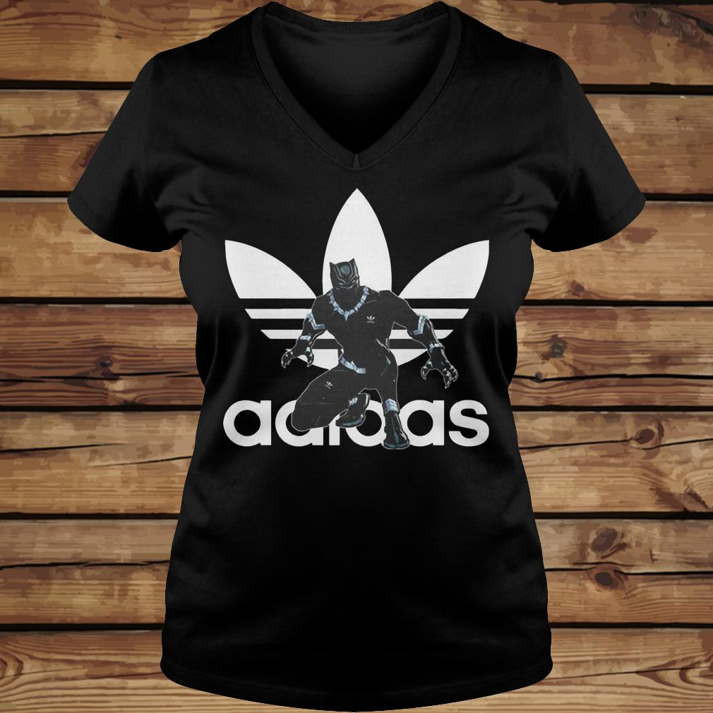 Black Panther Adidas shirt Ladies V-Neck
