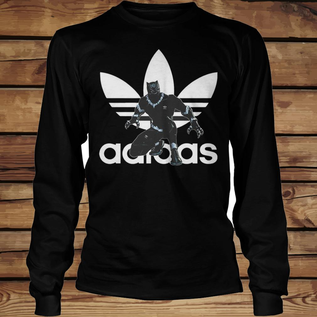 Black Panther Adidas shirt Longsleeve Tee Unisex