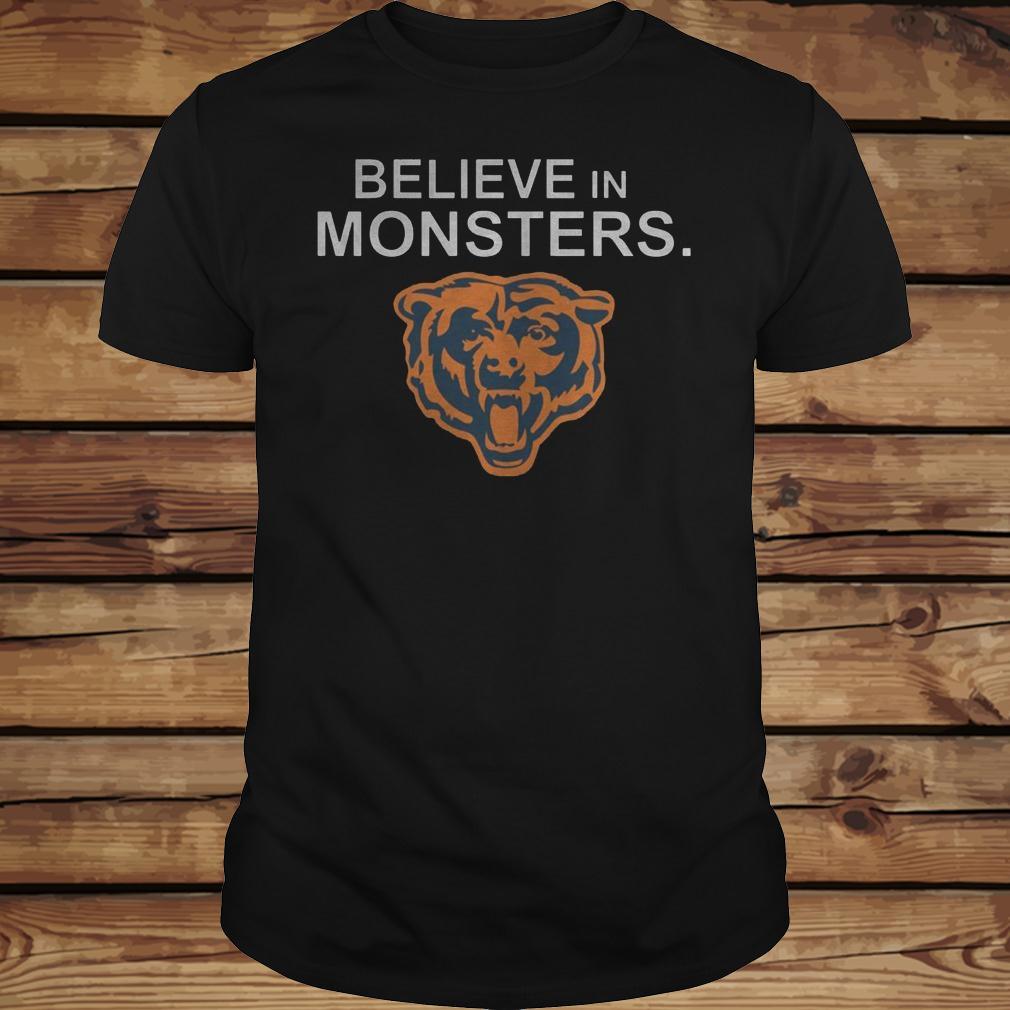 Chicago Bears Believe In Monsters shirt Classic Guys / Unisex Tee