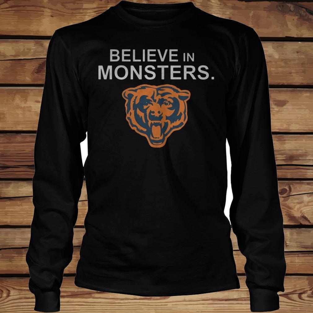 Chicago Bears Believe In Monsters shirt Longsleeve Tee Unisex