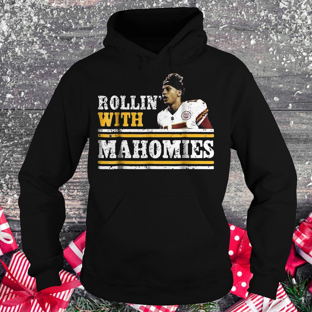 Chiefs Kingdom Cave Rollin With Mahomies Funny shirt Hoodie
