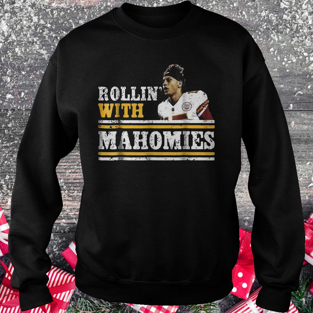 Chiefs Kingdom Cave Rollin With Mahomies Funny shirt Sweatshirt Unisex