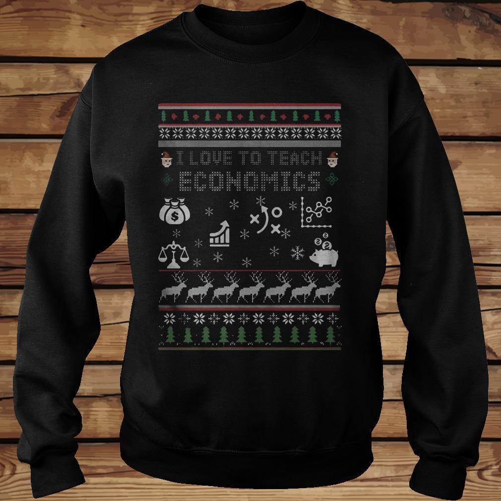 Christmas I Love To Teach Economics Shirt Sweatshirt Unisex.jpg