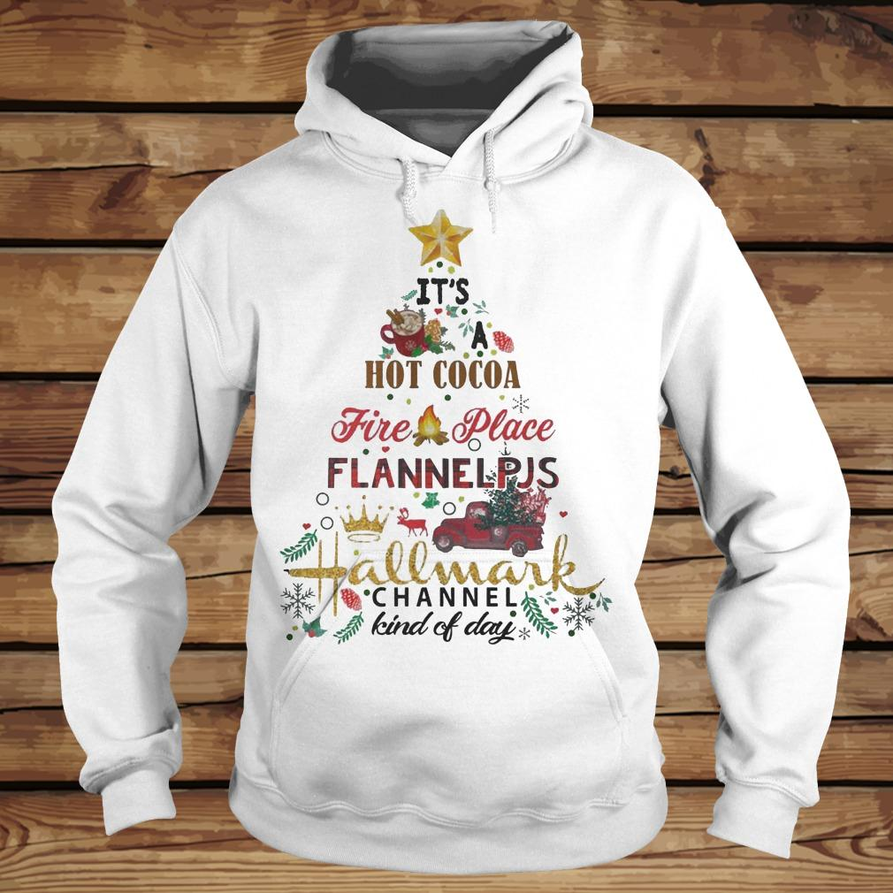 Christmas Tree It's Hot Coca Fire Place Flannel PJS Hallmark Channel shirt Hoodie