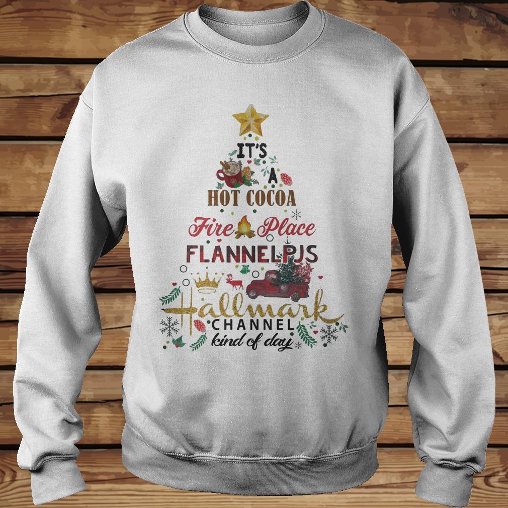 Christmas Tree It S Hot Coca Fire Place Flannel Pjs Hallmark Channel Shirt Sweatshirt Unisex.jpg