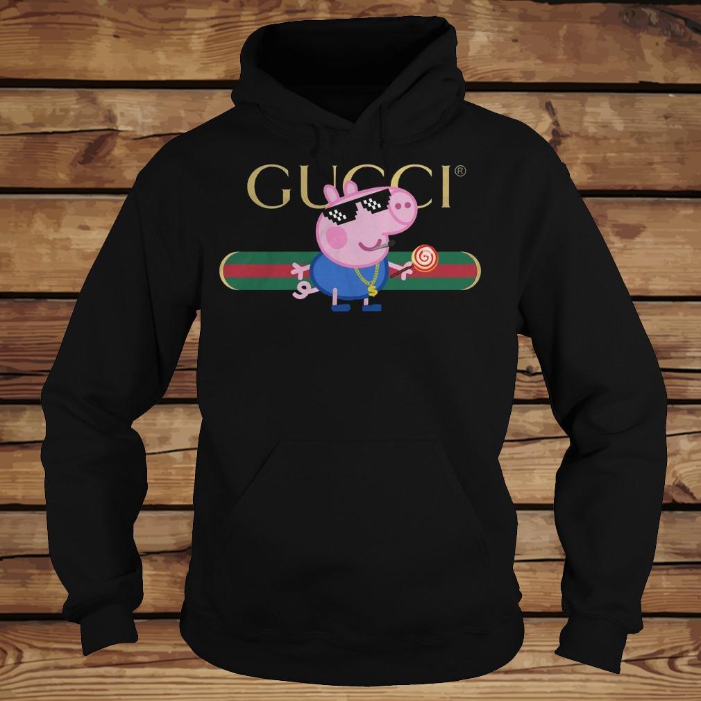 Cool Peppa Pig Gucci shirt Hoodie