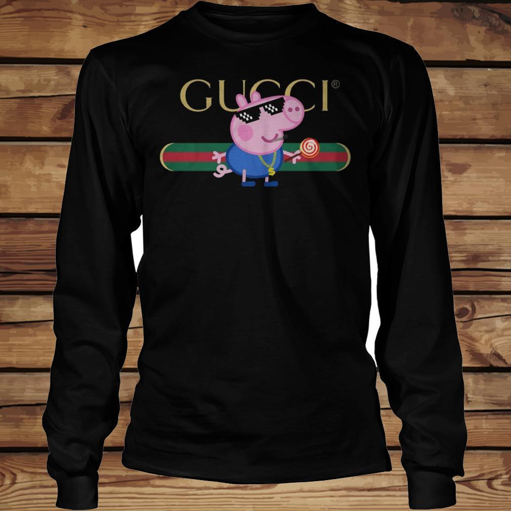 Cool Peppa Pig Gucci shirt Longsleeve Tee Unisex