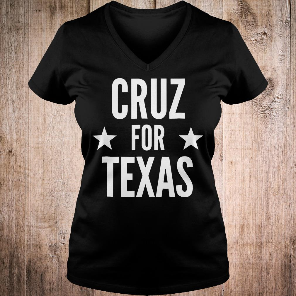 Cruz for Texas shirt Ladies V-Neck